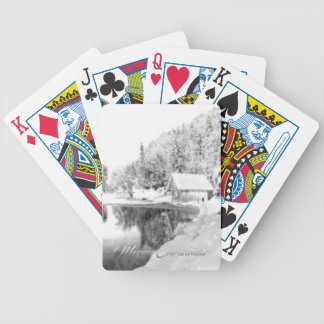 Monochrome Christmas theme Playing Cards