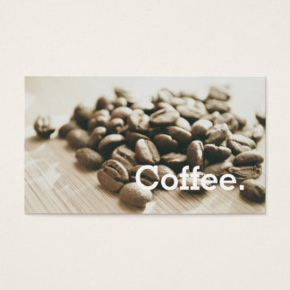 Monochrome Coffee Beans Simple Loyalty Punch-Card