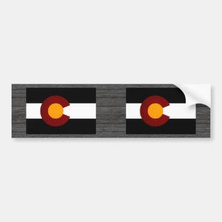 Monochrome Colorado Flag Bumper Stickers