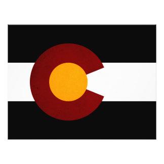 Monochrome Colorado Flag Flyer