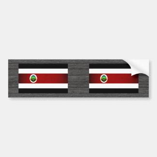 Monochrome Costa Rica Flag Bumper Stickers