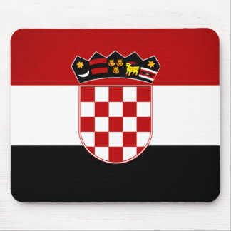 Monochrome Croatia Flag Mouse Mat
