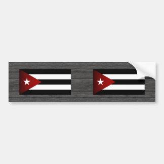 Monochrome Cuba Flag Bumper Sticker