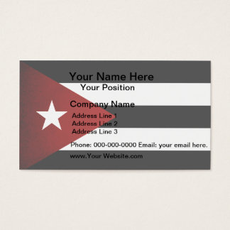 Monochrome Cuba Flag Business Card