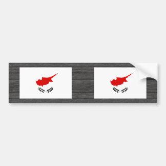 Monochrome Cyprus Flag Bumper Stickers