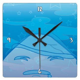 Monochrome Dreams! Square Wall Clock