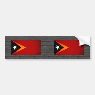 Monochrome East Timor Flag Bumper Stickers