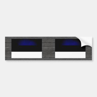 Monochrome Estonia Flag Bumper Stickers