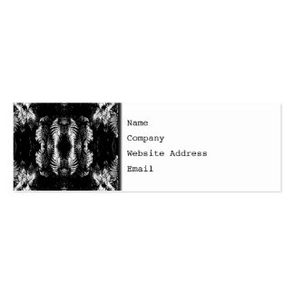 Monochrome Fern Pattern. Pack Of Skinny Business Cards