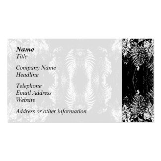 Monochrome Fern Pattern. Pack Of Standard Business Cards