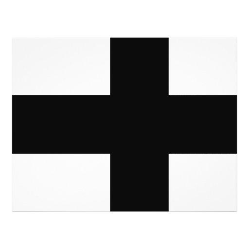 Monochrome Finland Flag Flyer Design