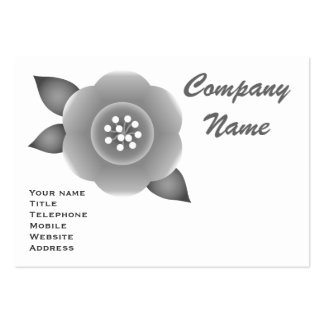 Monochrome flower business card