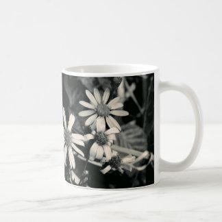 Monochrome Flower Mug