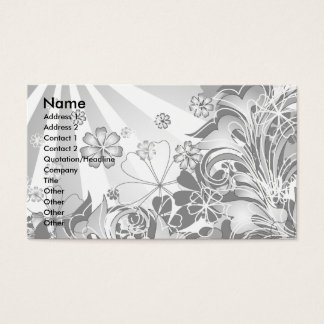 monochrome flowers_card business card