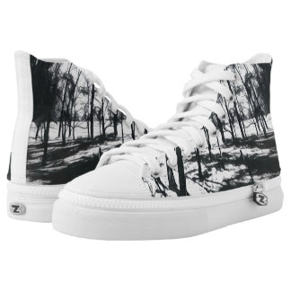 Monochrome Forest Funky High Top Shoes