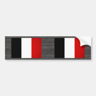Monochrome France Flag Bumper Sticker