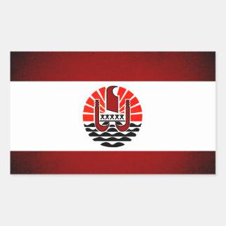Monochrome French Polynesia Flag Rectangle Stickers