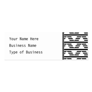 Monochrome Geometric Design. Pattern. Pack Of Skinny Business Cards