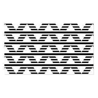 Monochrome Geometric Design. Pattern. Pack Of Standard Business Cards