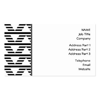 Monochrome Geometric Design. Pattern. Pack Of Standard Business Cards