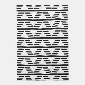 Monochrome Geometric Design. Pattern. Tea Towel