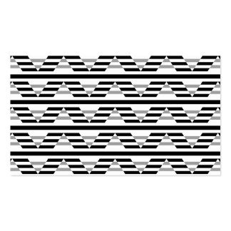 Monochrome Geometric Pattern. Double-Sided Standard Business Cards (Pack Of 100)