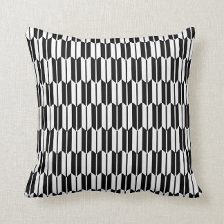Monochrome Geometric Pattern Cushion