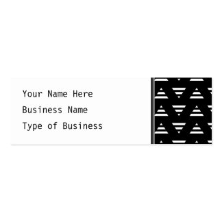 Monochrome Geometric Pattern. Stripe Triangles. Pack Of Skinny Business Cards