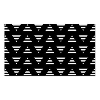 Monochrome Geometric Pattern. Stripe Triangles. Pack Of Standard Business Cards