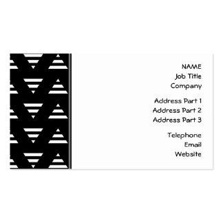 Monochrome Geometric Pattern. Stripe Triangles. Pack Of Standard Business Cards