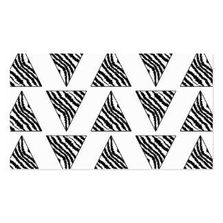 Monochrome Geometric Pattern with Zebra Stripes Pack Of Standard Business Cards
