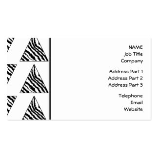 Monochrome Geometric Pattern with Zebra Stripes Pack Of Standard Business Cards