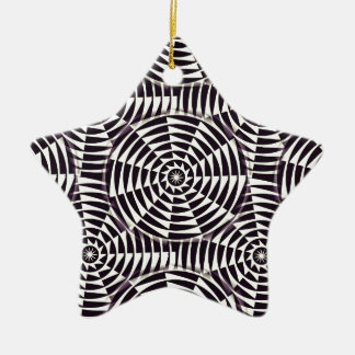 Monochrome geometric seamless pattern ceramic star decoration