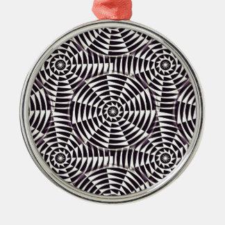Monochrome geometric seamless pattern christmas ornament