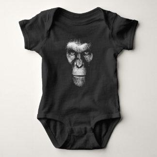 Monochrome Gorilla Face Baby Bodysuit
