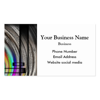 Monochrome gray abstract pattern business card