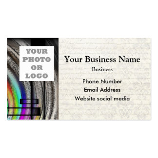 Monochrome gray abstract pattern photo template Double-Sided standard business cards (Pack of 100)