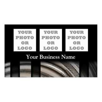 Monochrome gray abstract photo logo template Double-Sided standard business cards (Pack of 100)