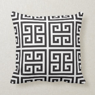 Monochrome Greek Chic Geometric Cushion