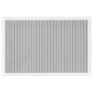 Monochrome Grey Stripe Design - Tray