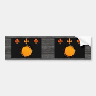Monochrome Guadeloupe Flag Bumper Sticker