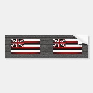 Monochrome Hawaii Flag Bumper Stickers