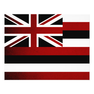 Monochrome Hawaii Flag Custom Flyer