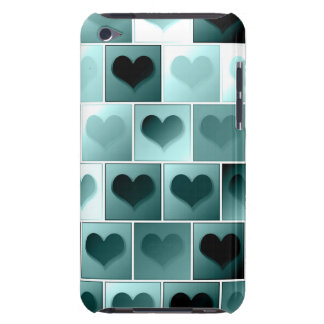 Monochrome hearts pattern iPod Case-Mate cases