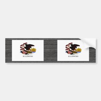 Monochrome Illinois Flag Bumper Sticker
