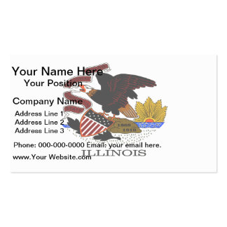 Monochrome Illinois Flag Pack Of Standard Business Cards
