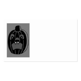 Monochrome Jack O Lantern Pumpkin Pack Of Standard Business Cards