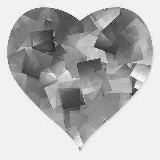 Monochrome Layers Heart Sticker