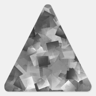 Monochrome Layers Triangle Sticker