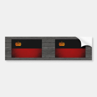 Monochrome Liechtenstein Flag Bumper Stickers